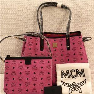 NEW MCM reversible shopper tote
